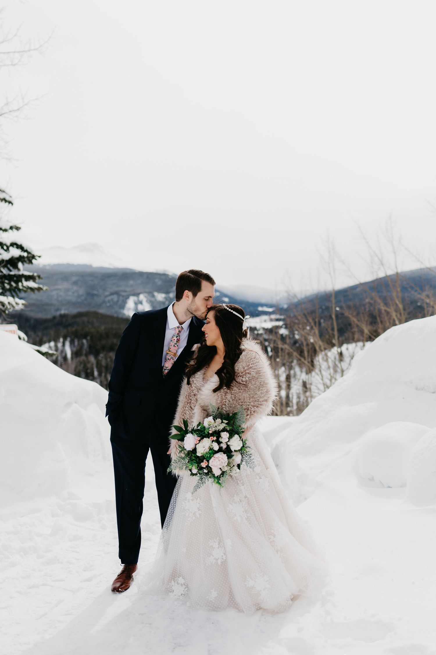 winter wedding inspiration, mountains, colorado, elopement, small wedding, snow, portraits, best co photographer