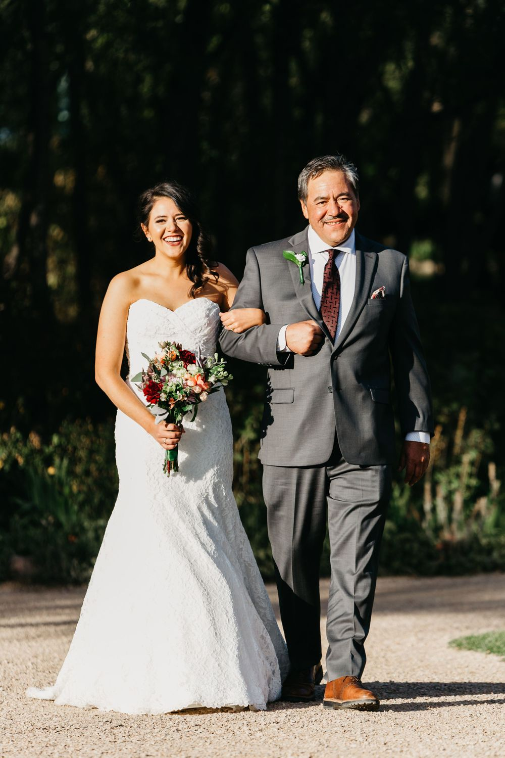 Walking down the aisle photos, bride and father photos, classic wedding ideas, Colorado Springs wedding photography,