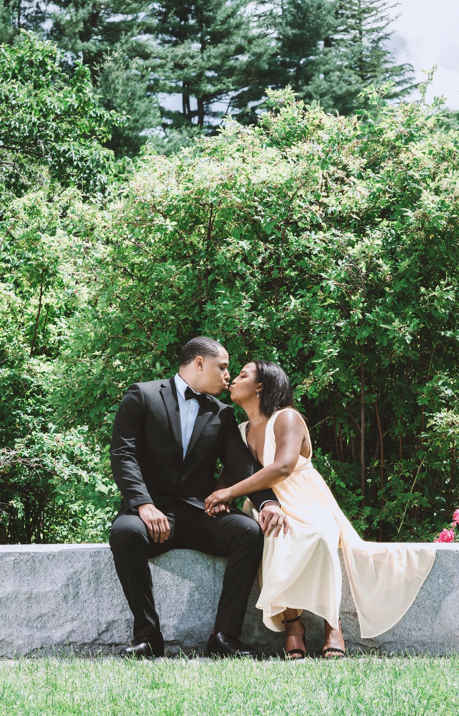 Romantic Engagement Session In Boston Park By Wedding Photographer
