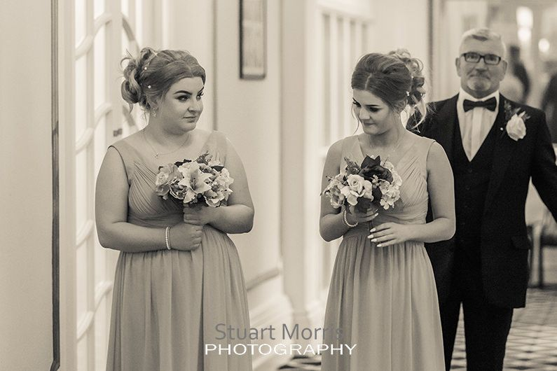 bridesmaids waiting in the hall at the prince of wales hotel southport
