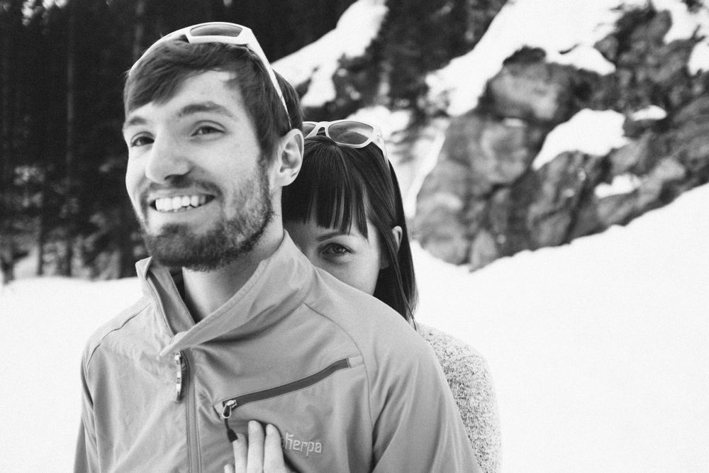 Couple at Rocky Mountain National Park