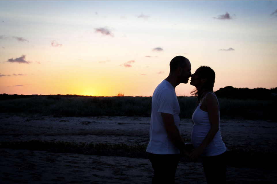 couple maternity session kurnell sydney sunset