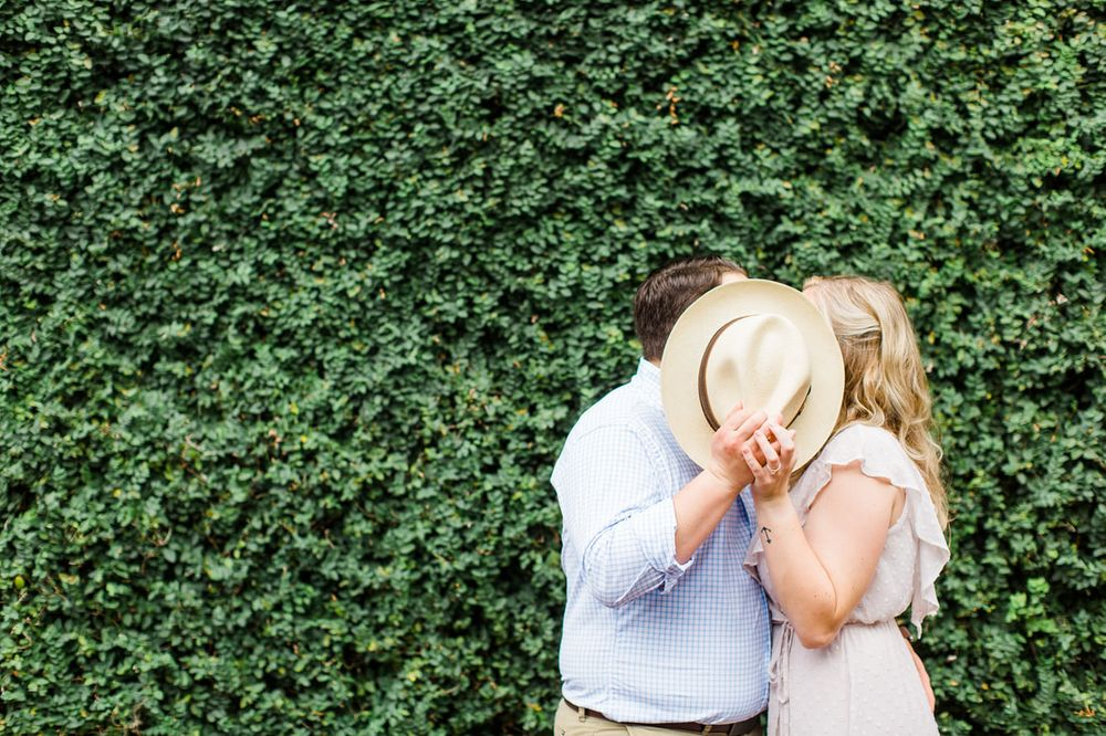 engagement session in lafayette square in savannah, ga