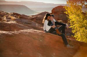 Red rock engagement photoshoot