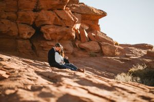 Redrock engagement photo.