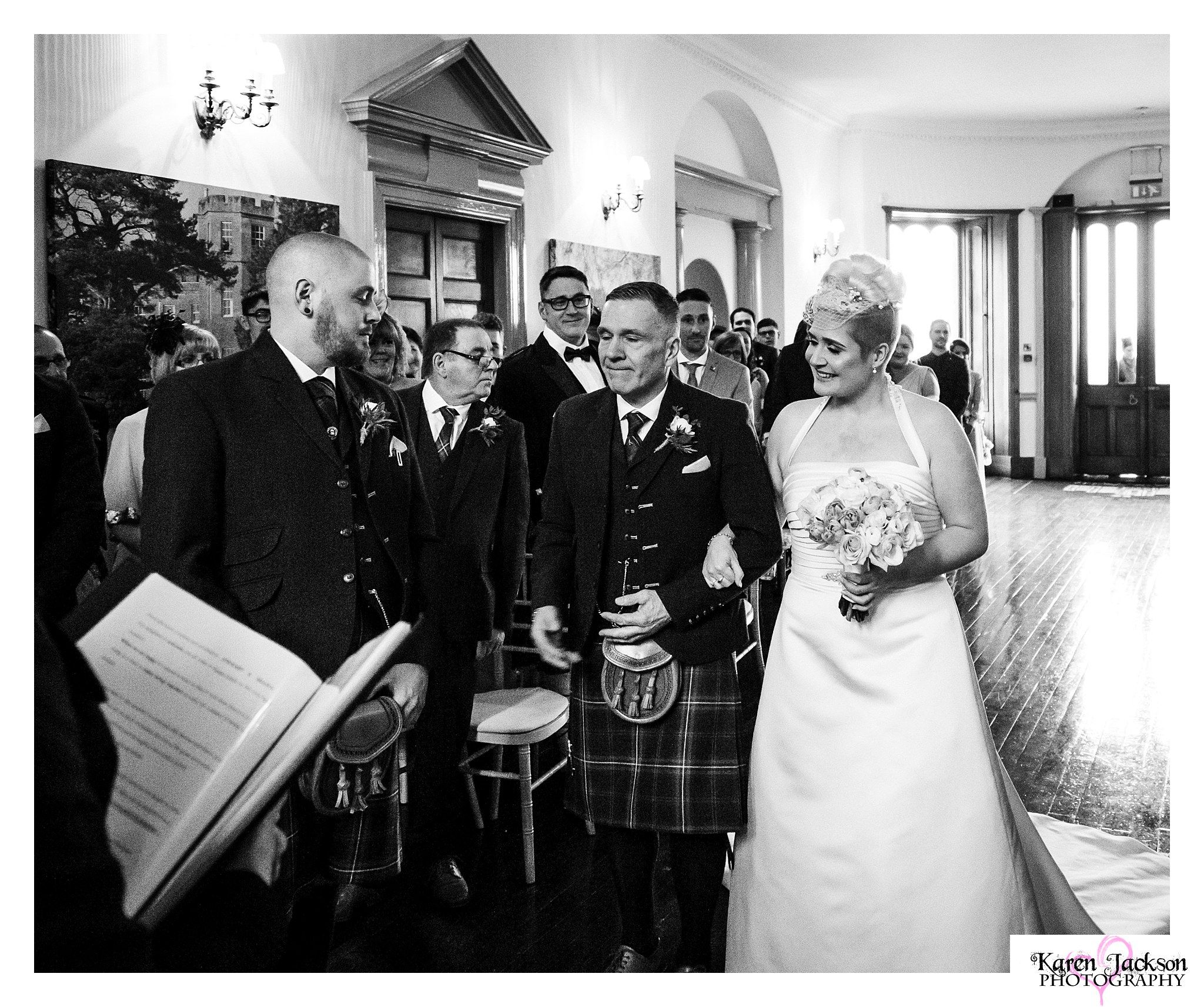 Fasque Castle wedding Photographer Scottish exclusive use