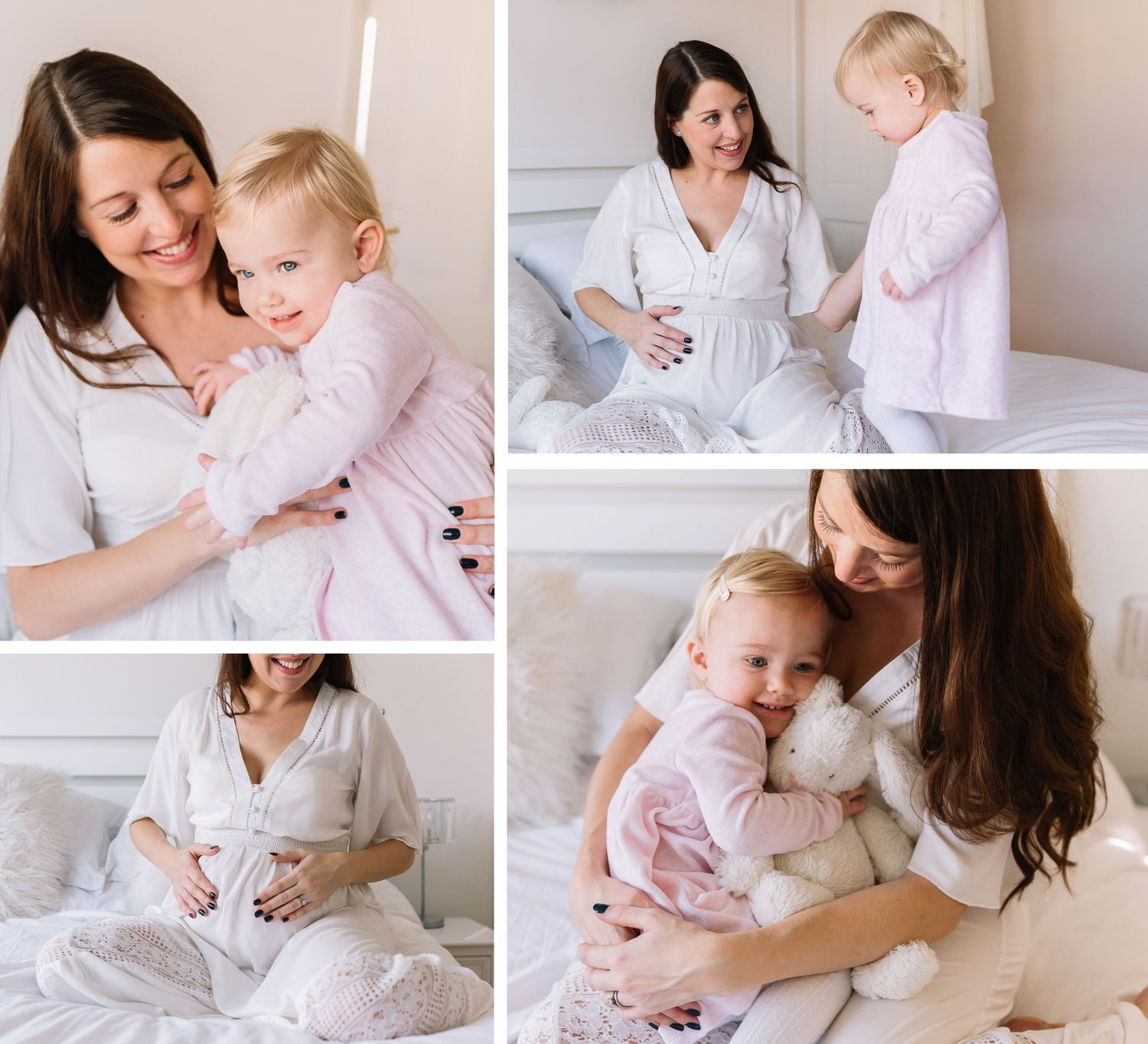 what to wear to maternity pregnancy photo session at home with toddler