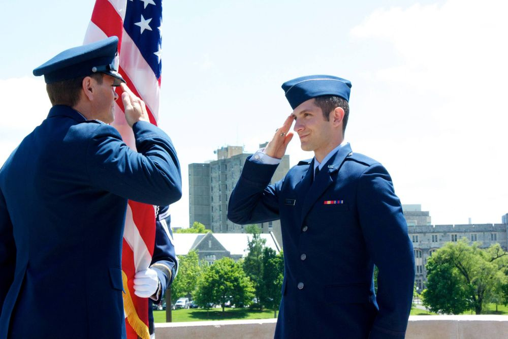 Air Force commissioning ceremony Virginia Tech ROTC Salute Office