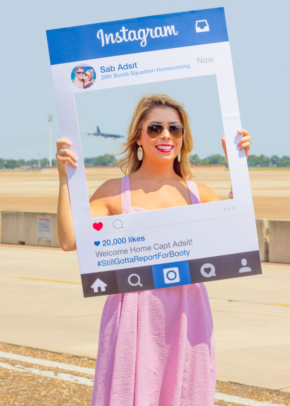Instagram military homecoming B52 BUFF wife waiting for husband
