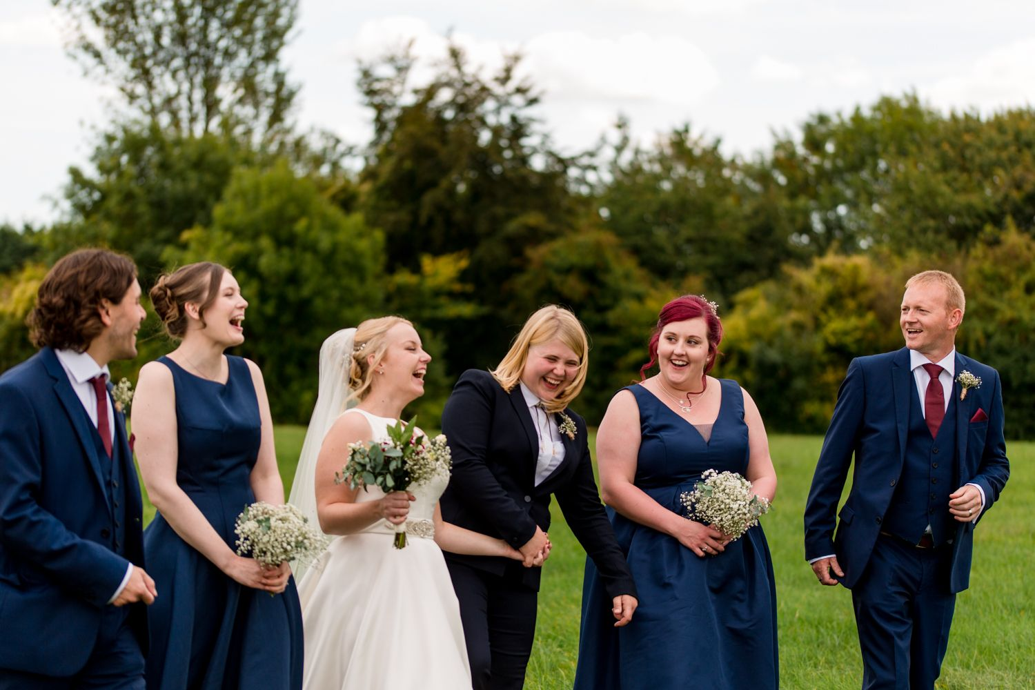 Fun and Natural group shots at weddings