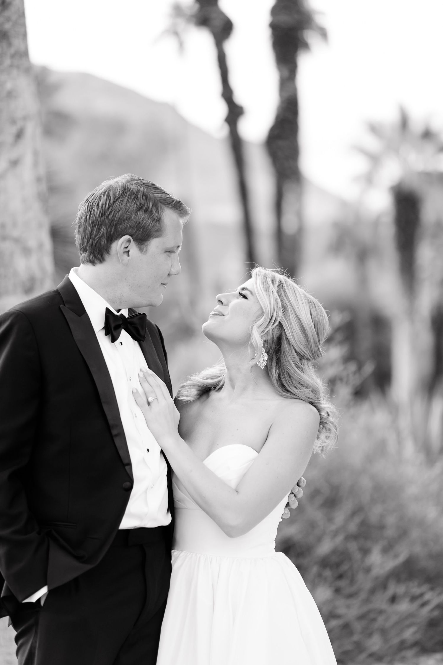 wedding day first look palm spring by dallas wedding photographer monica salazar photography bride and groom