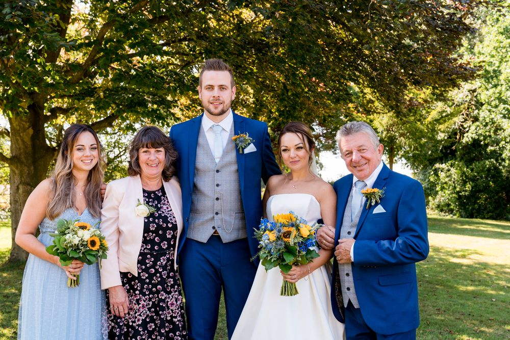 Family photographs at Audelywoods wedding