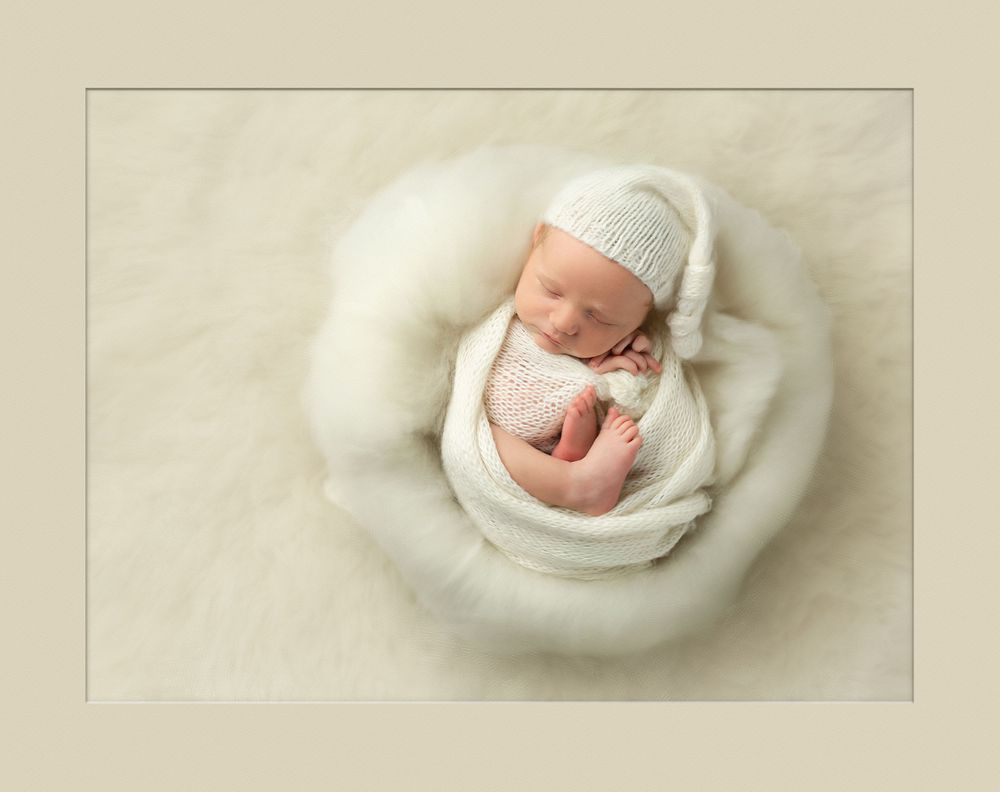 Award-winning austin baby photographer Austin Newborn photography artistic baby digital painting Peaceful slumb