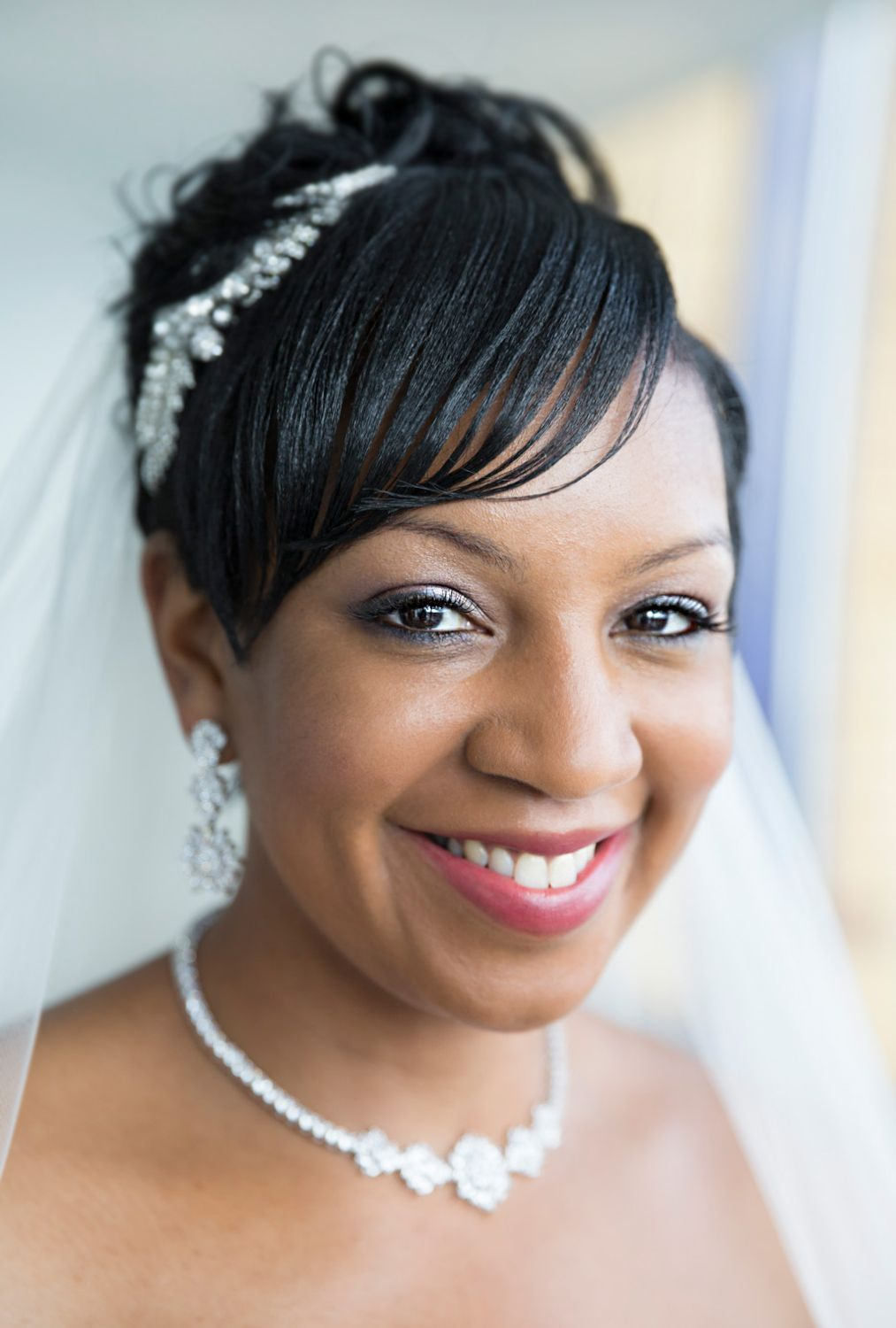 Beautiful black bride getting ready wedding photography