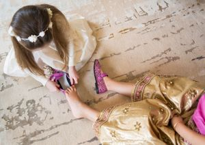 Bridesmaids getting ready wedding photography
