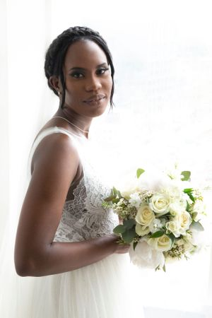 Beautiful black bride wedding photography