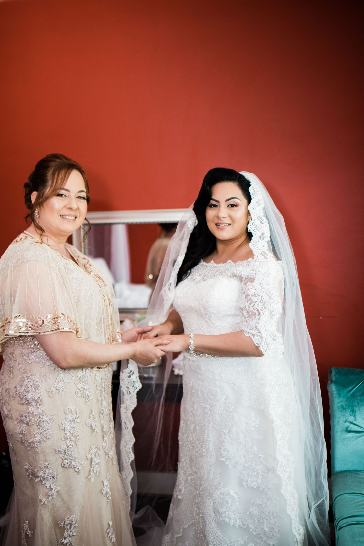 bride and mother of the bride portrait