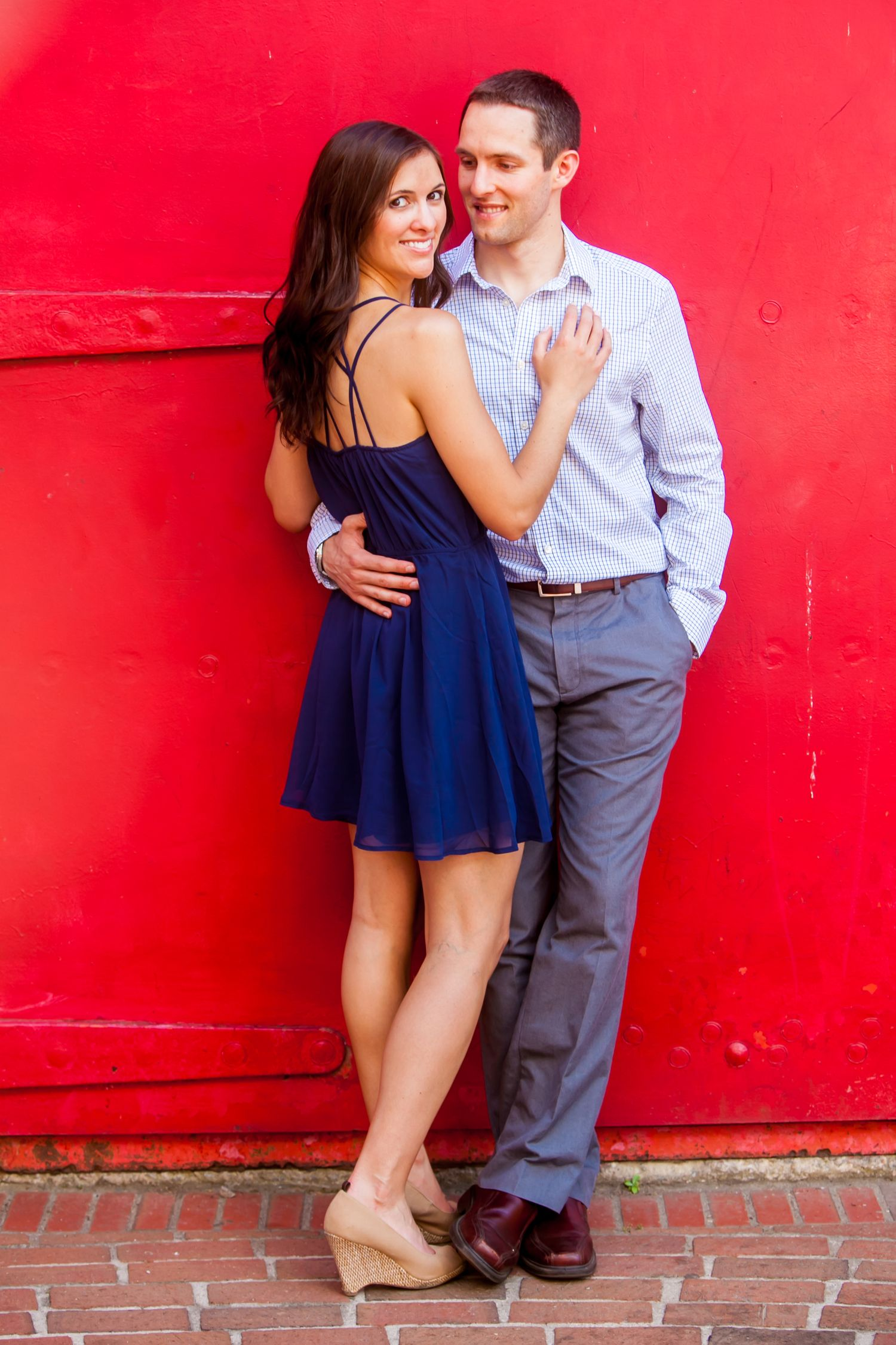 Canal Park Riverwalk engagement portrait by Columbia, SC, Wedding Photographer Jeff Blake
