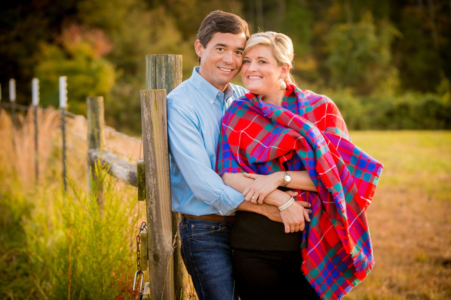 Farm  engagement portrait by Columbia, SC, Wedding Photographer Jeff Blake