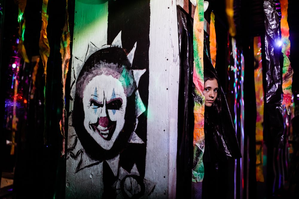 Anika Vodicka and Lenkaland Photography at the Wuss Maker Haunted House at Scandia Family Fun Center in Sacramento, CA