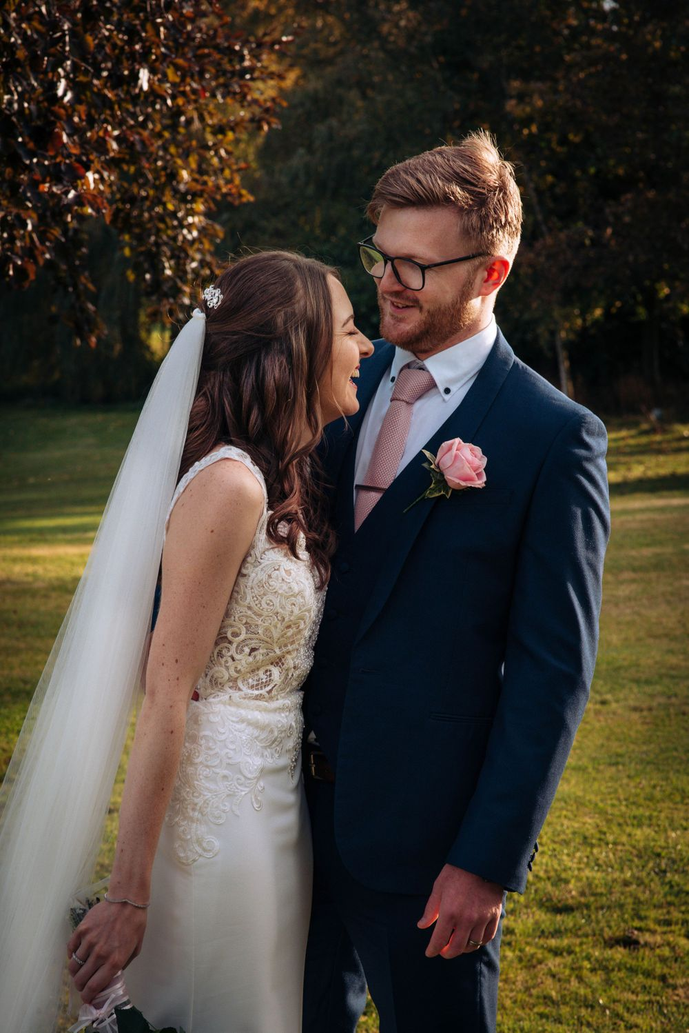 Cricklade House Hotel wedding by Zara Davis Photography, Gloucestershire giggles in the autumn sunshine