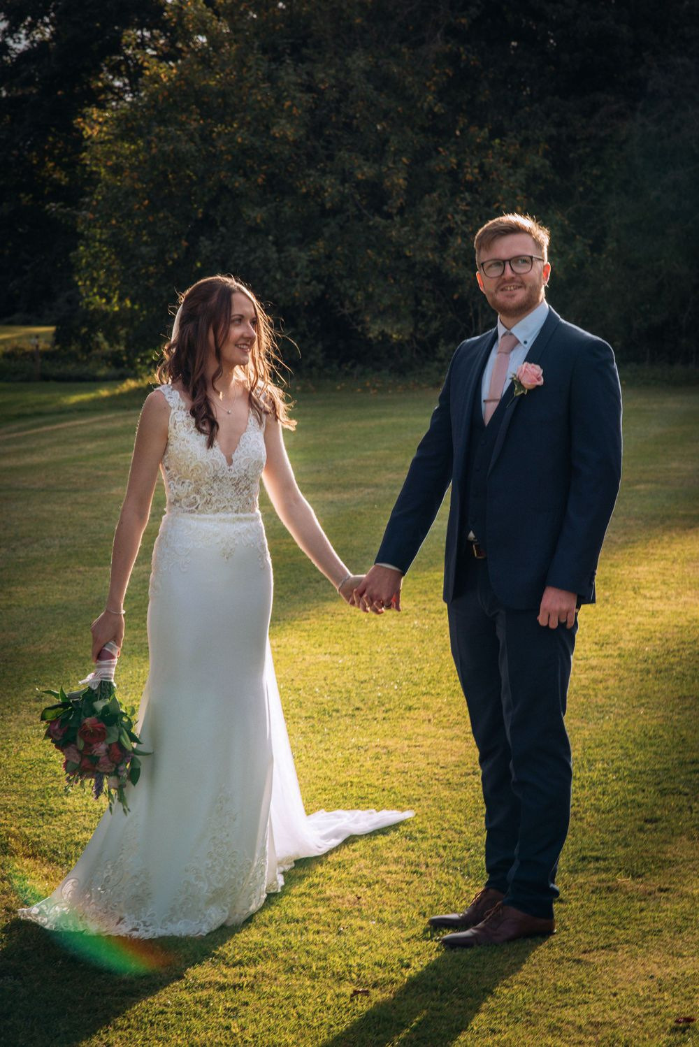 Cricklade House Hotel wedding by Zara Davis Photography, Gloucestershire golden hour rays