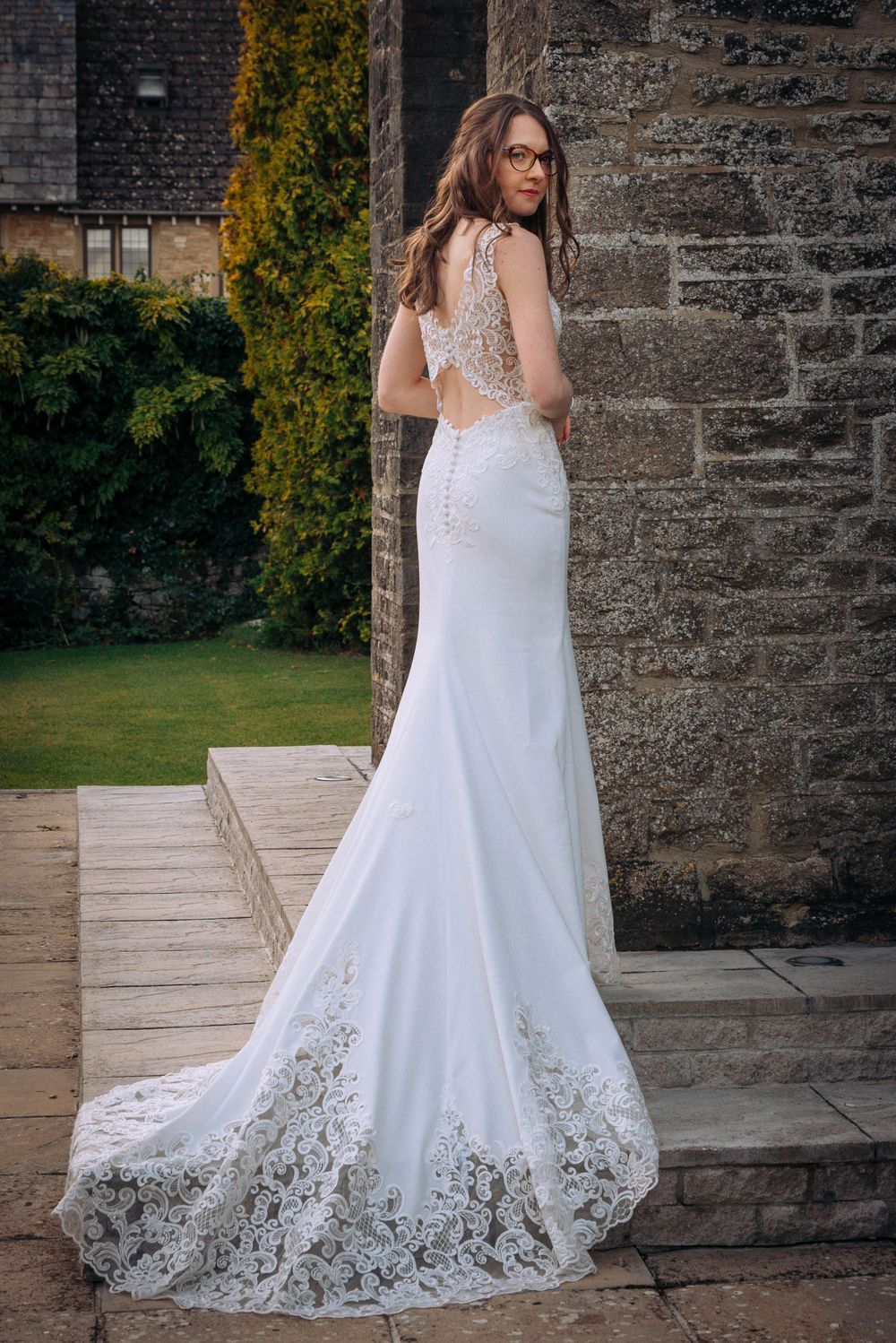 Cricklade House Hotel wedding by Zara Davis Photography, Gloucestershire bridal dress