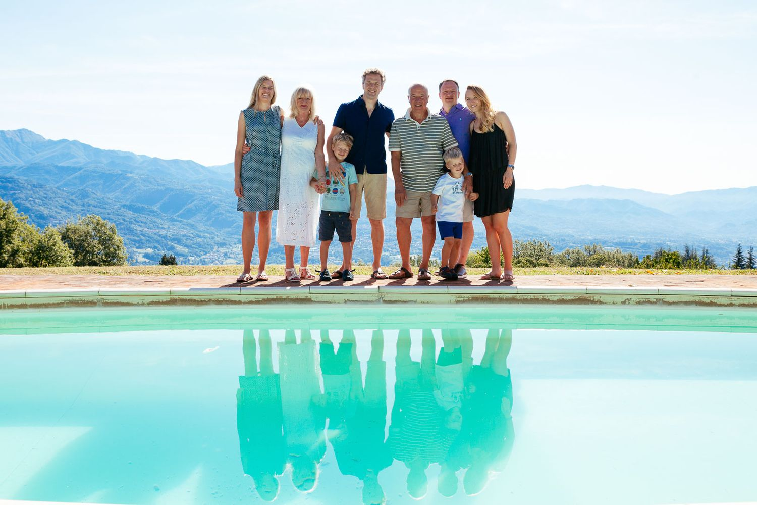 family portraits for holidays or vacations in Tuscany