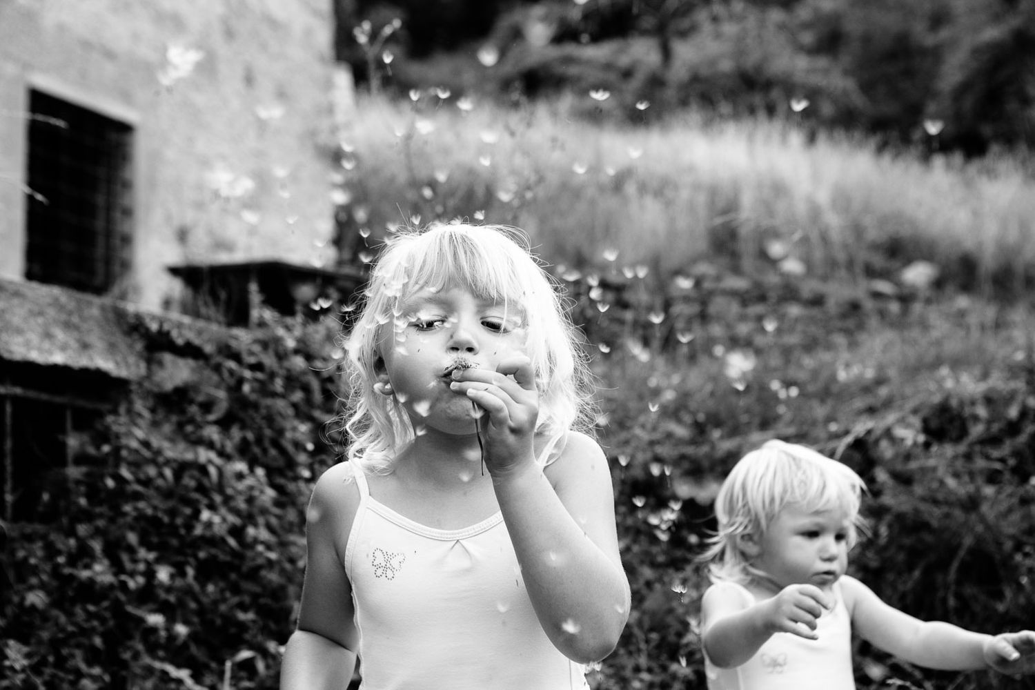 lifestyle family portraits of children near Barga Lucca Tuscany