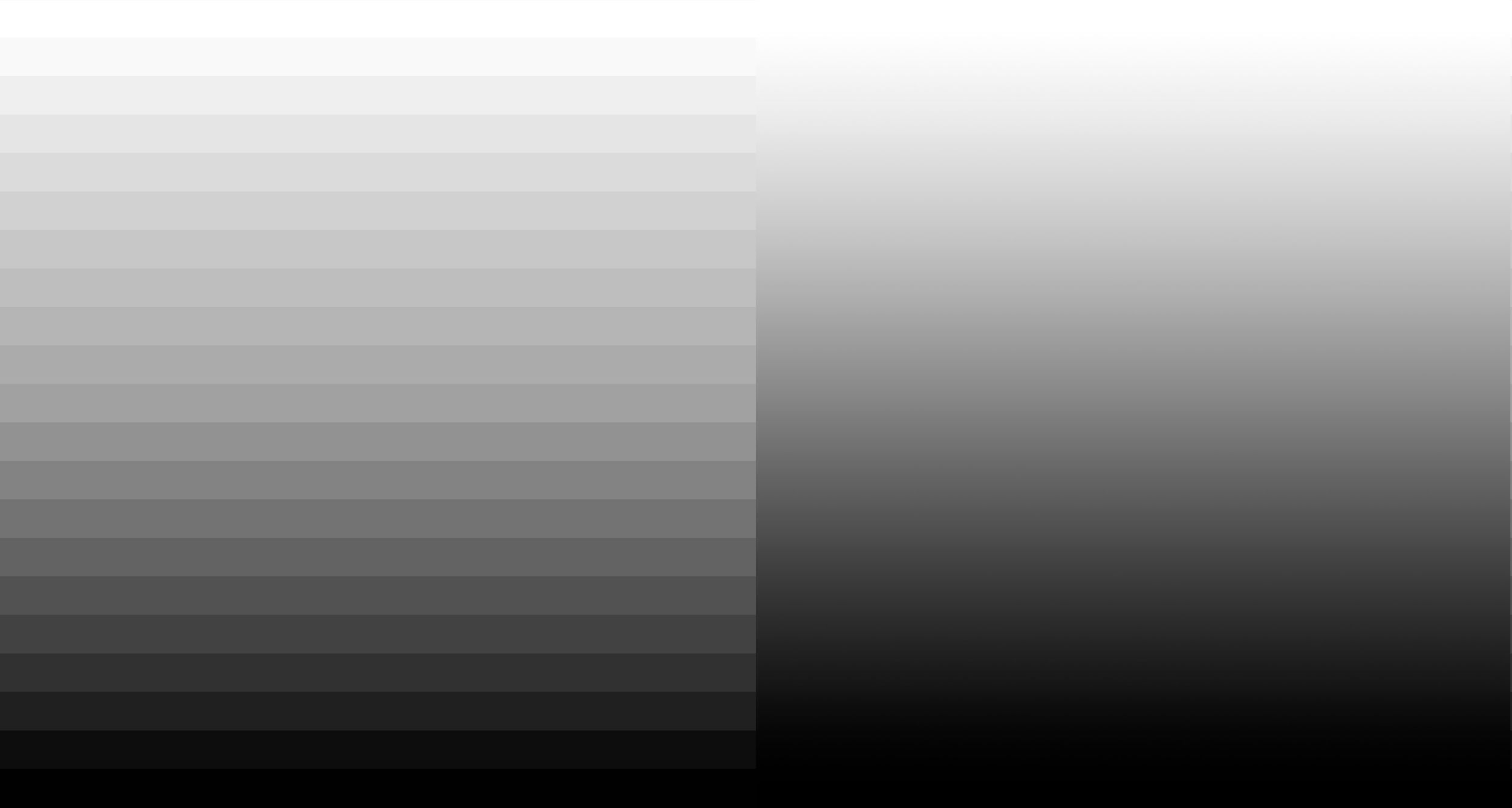 Image of grayscale contrast steps and smooth gradient