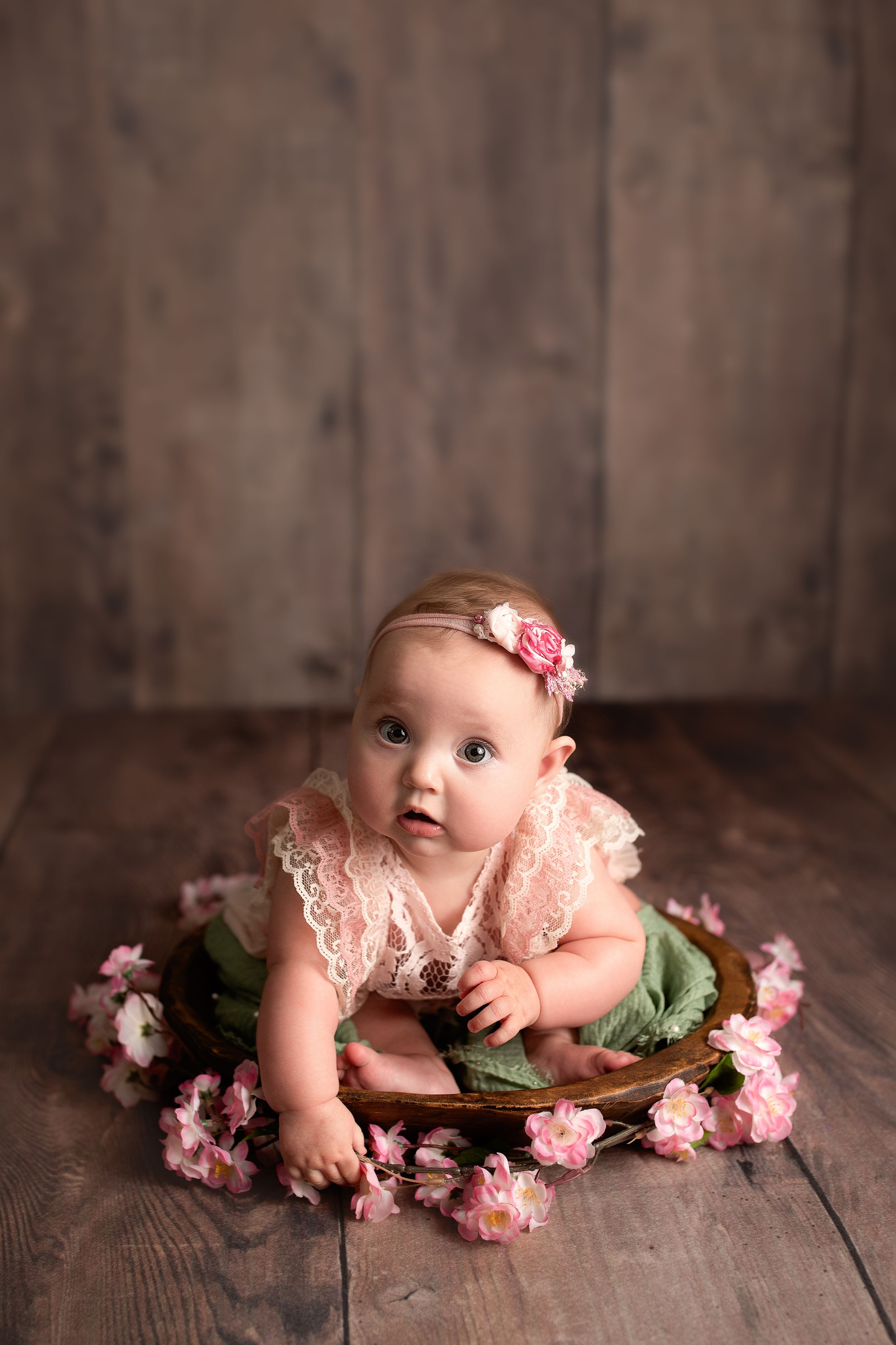 6 month old studio baby girl