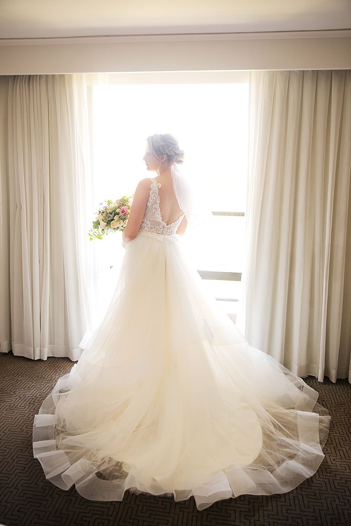Bride on her wedding day at QT Hotel Canberra