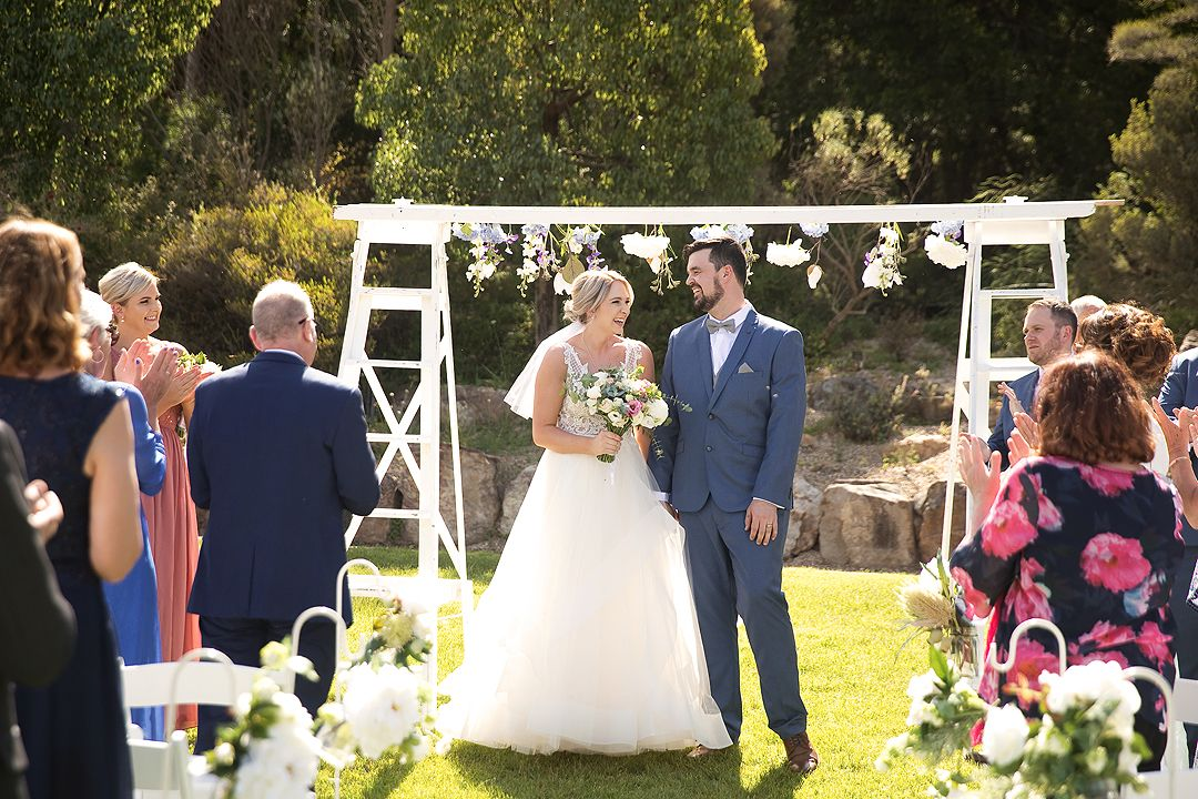 Wedding ceremony at the Rock Lawns of The Australian National Botanic Gardens Canberra