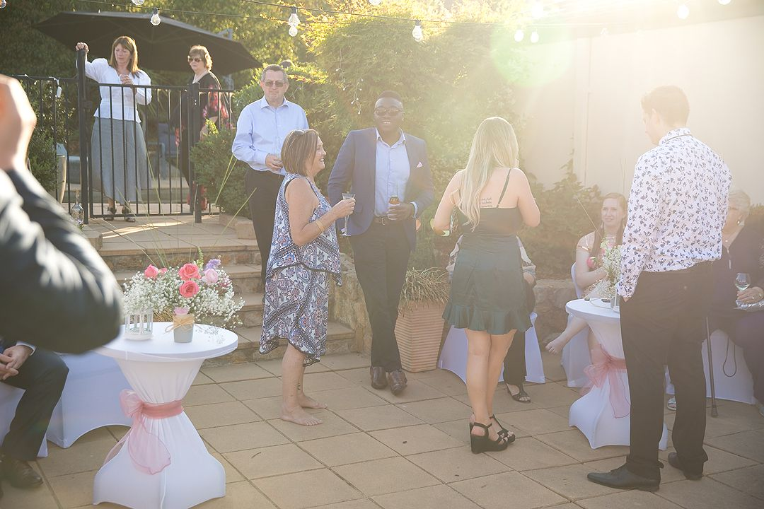 Outdoor wedding reception in Canberra