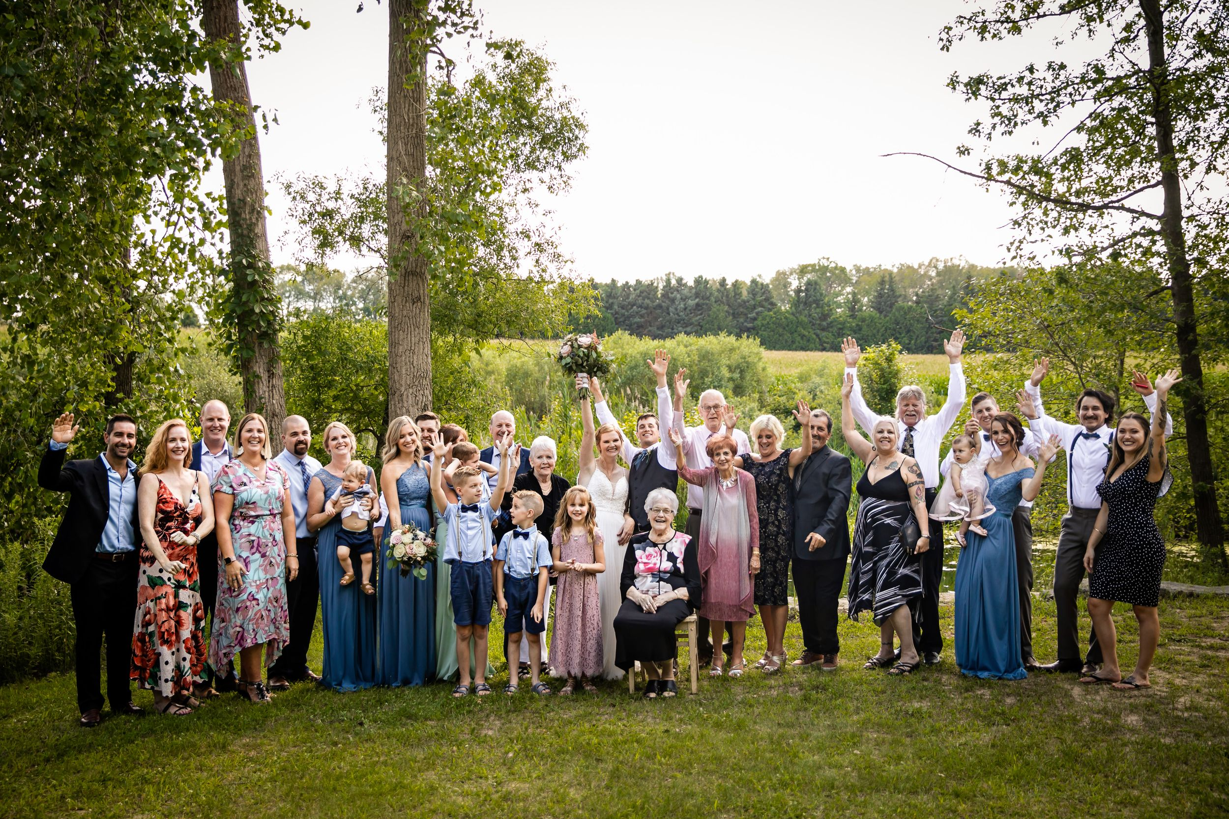 Charming rustic backyard wedding in Mount Brydges Ontario by London photographer Shawn Van Daele