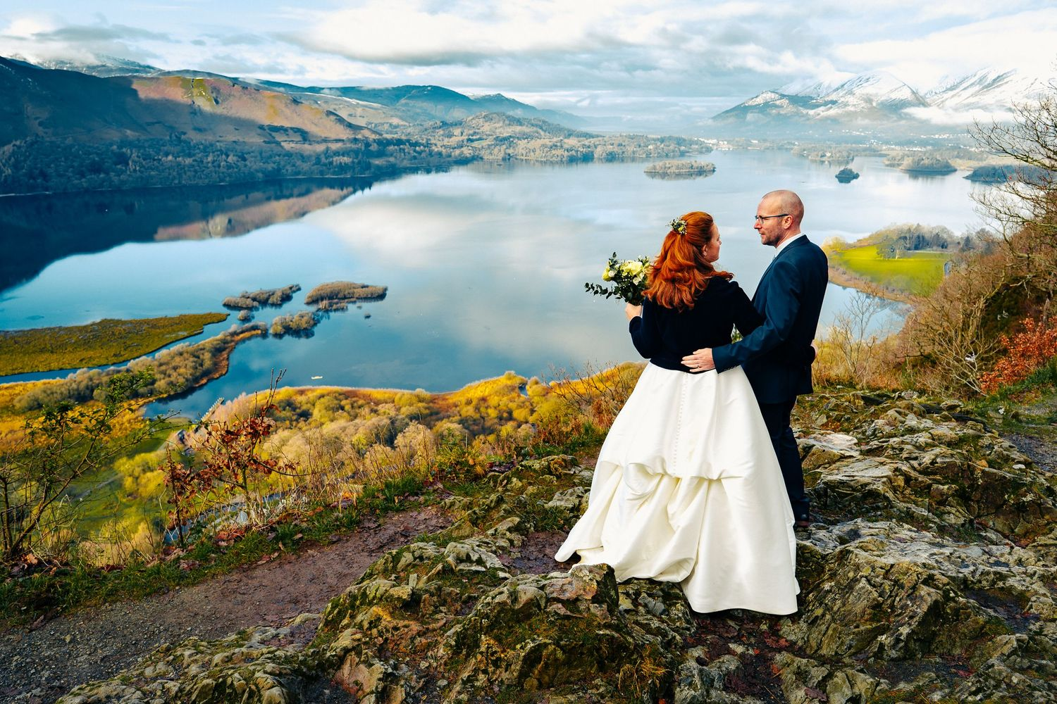 Lake District Wedding overlooking Lake