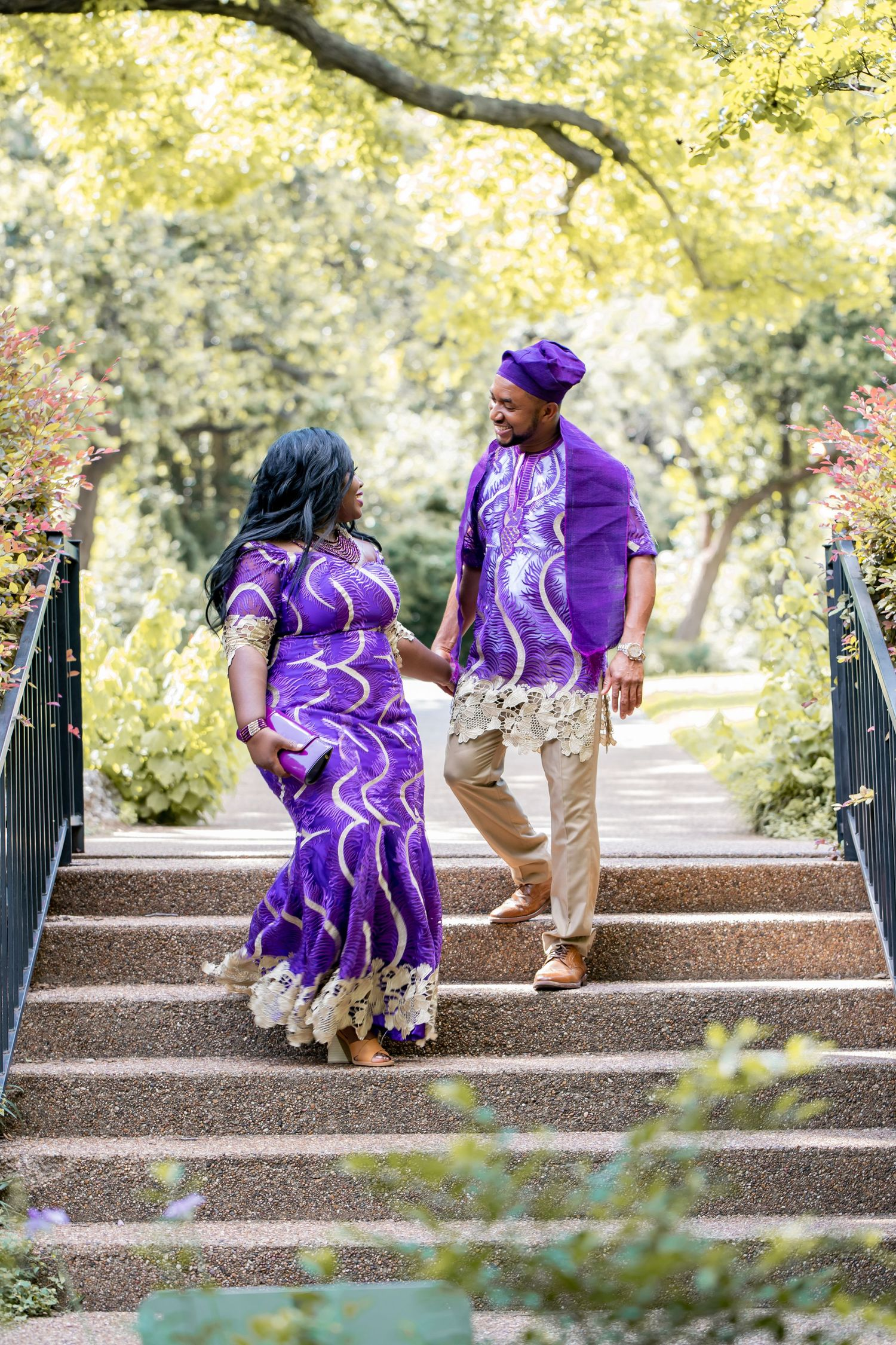 Engagement session at Fort worth botanic garden