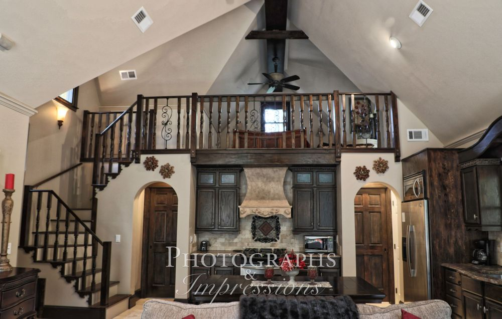 real estate photograph of storybook cottage interior by Photographs and Impressions and Nunweiler Photography