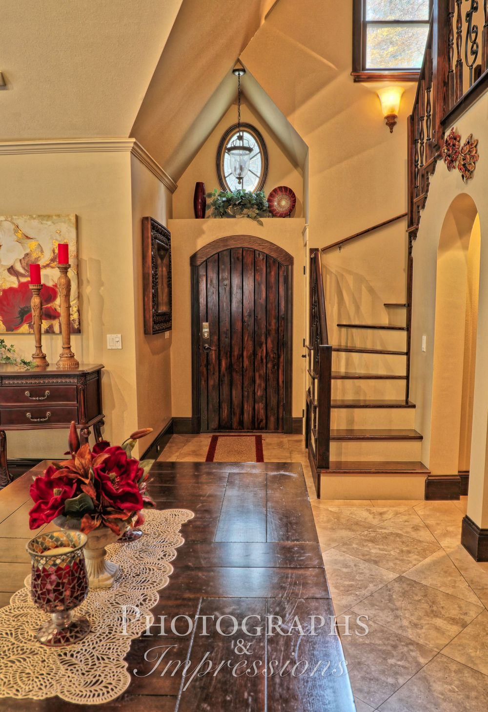 real estate photograph of entryway by Photographs and Impressions and Nunweiler Photography