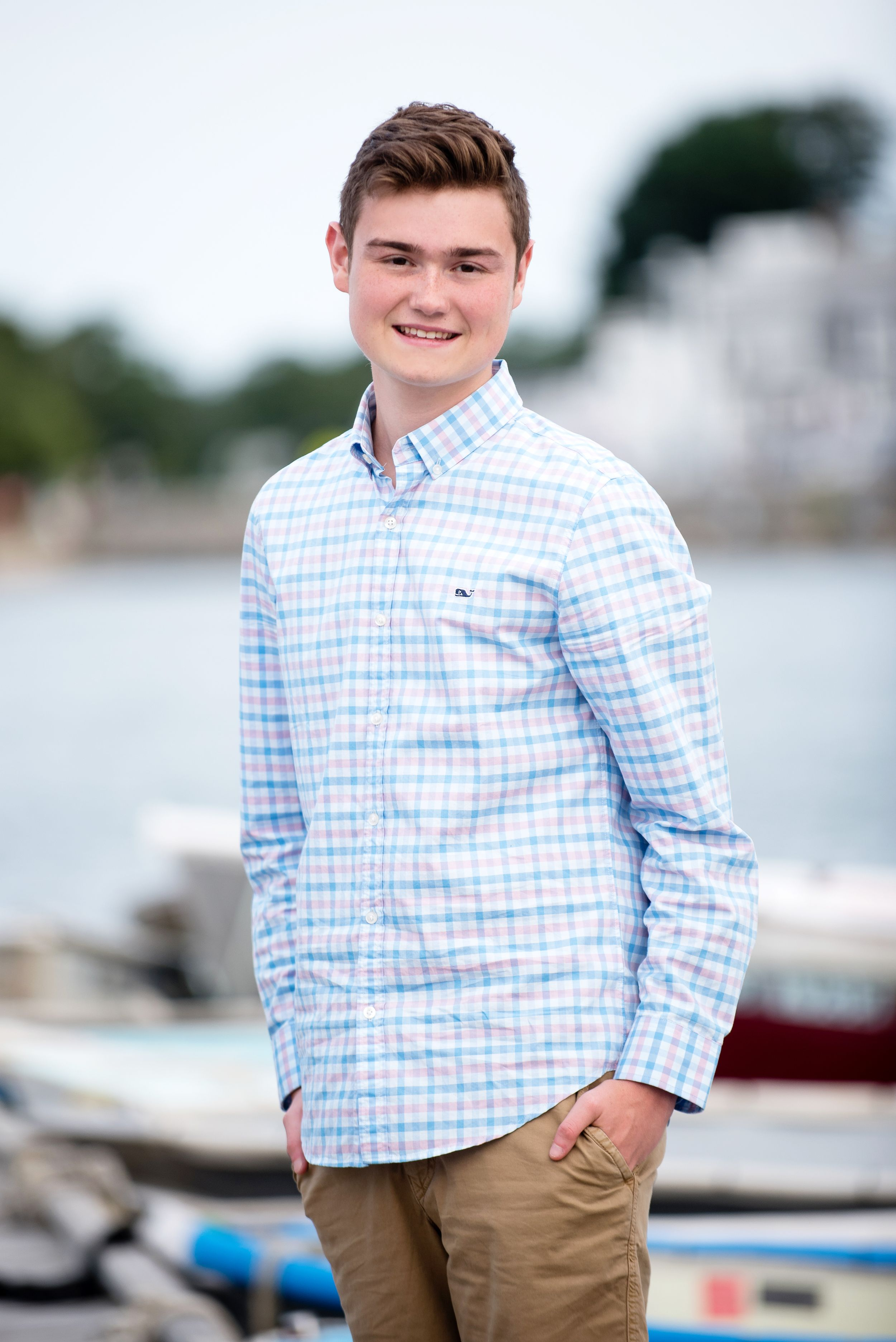 plymouth north high school senior portrait at plymouth town wharf by heidi harting photography
