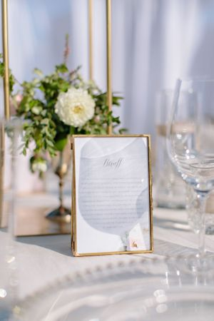 wedding table stationary