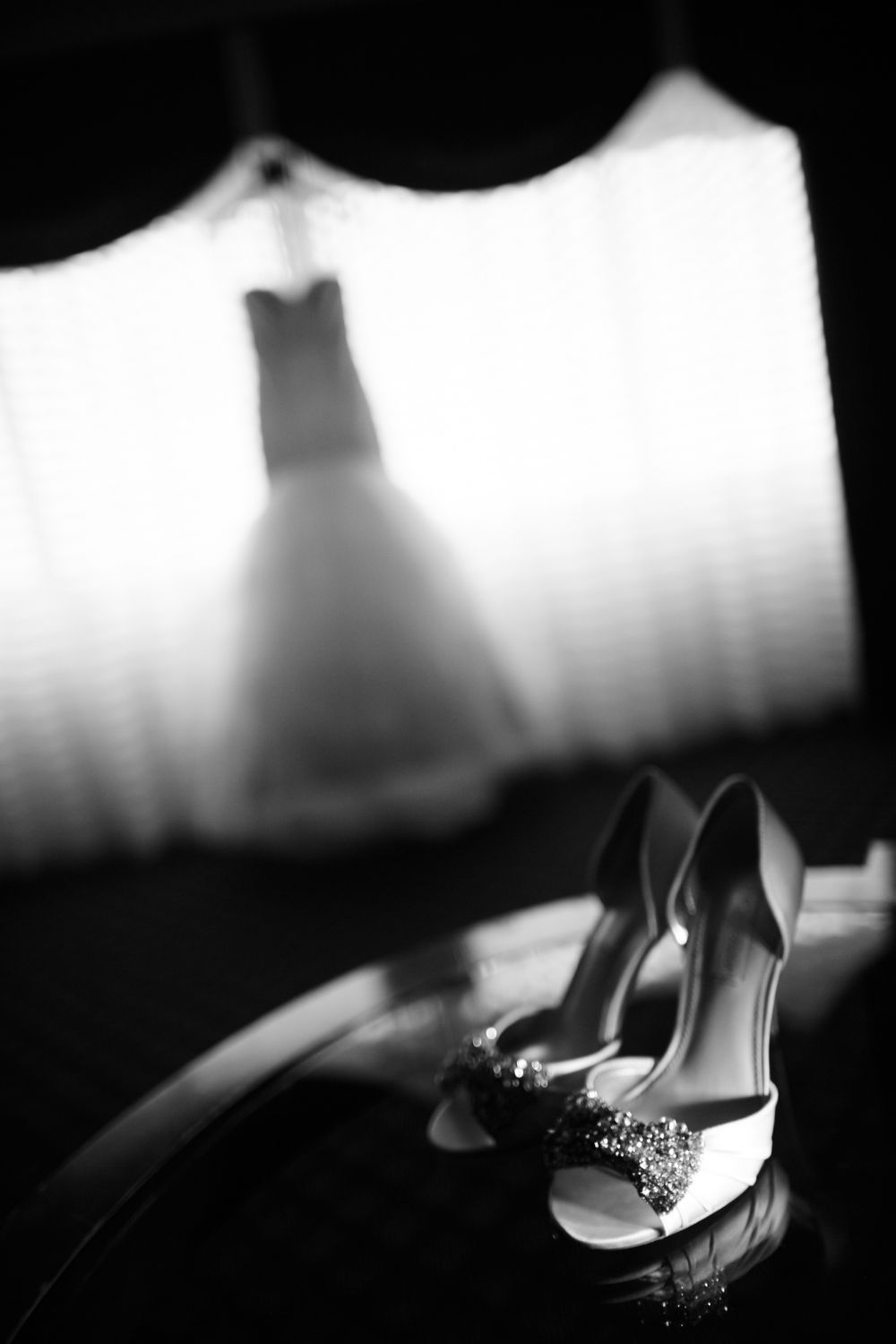 Wedding dress and shoes wedding day details in Newport Rhode Island