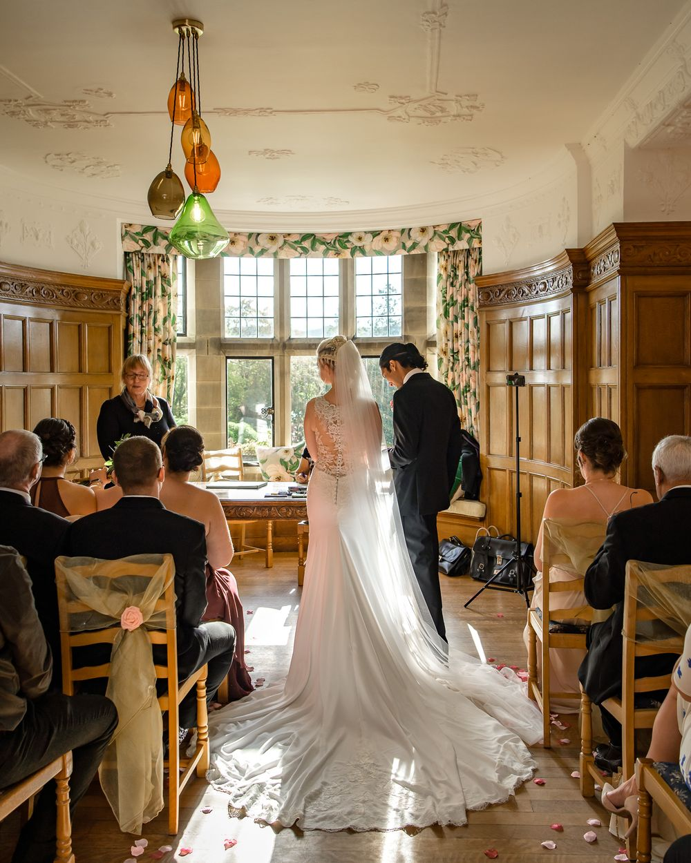 Wedding ceremony at Cragwood Country House Hotel