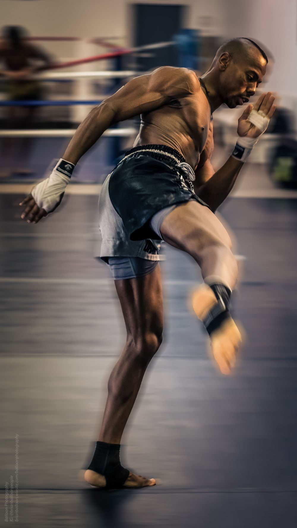 Muay Thai Fighter, Ohana Warrior Gym -- photo by Balloon Photography, Dallas, TX