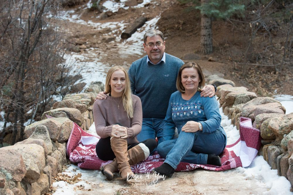 Colorado Springs Family Photo Session at Helen Hunt Falls