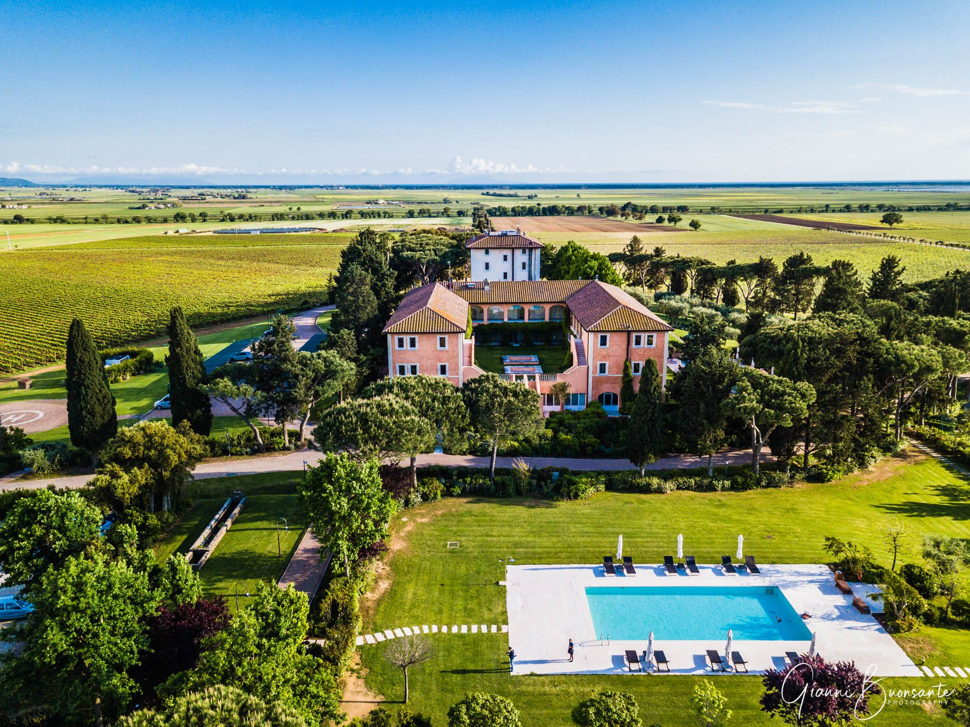 L'Andana Resort in Tuscany Maremma Aerial view. Hotel Photography Gianni Buonsante