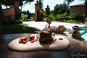 L'Andana Resort in Tuscany restaurant view. Hotel Food Photography Gianni Buonsante