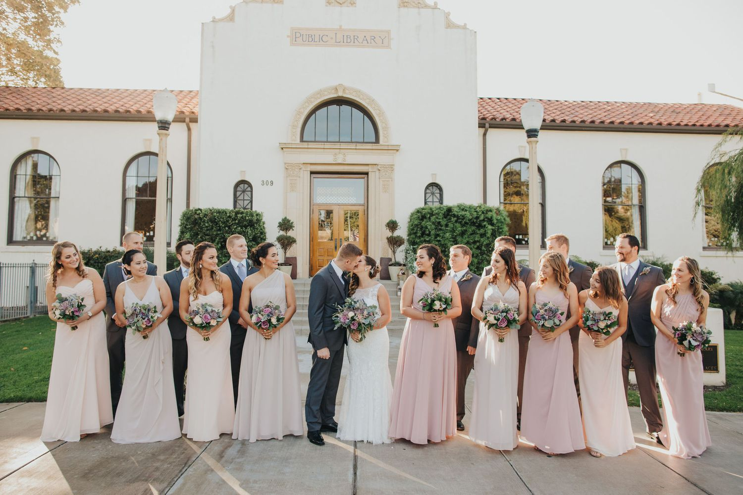 Wedding Party Kiss | Redondo Beach Historic Library