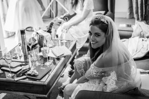 bride getting ready putting on shoes, Robert Nelson Wedding Photography