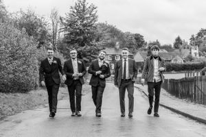 reservoir dogs groomsmen wedding portraits, Robert Nelson Wedding Photography